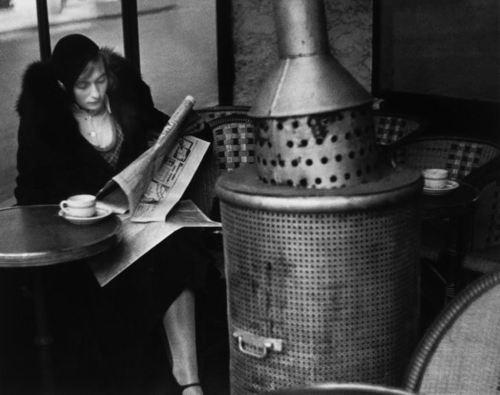 un matin d'hiver au cafe du dome 1928